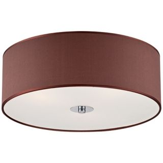 "Satin Brown 16"" Wide Frosted Glass Ceiling Light   #X8832"