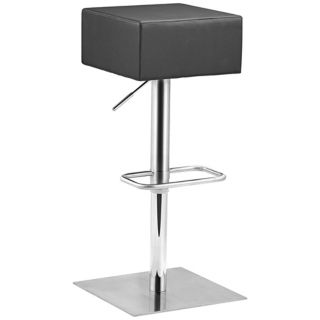 Zuo Butcher Black Adjustable Height Bar or Counter Stool   #T2533