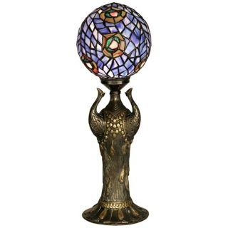 Globe Peacock Replica Dale Tiffany Table Lamp   #U8932