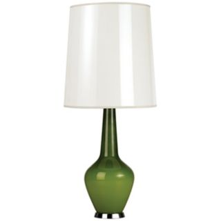 Jonathan Adler Capri Tall Green Glass Table Lamp   #J1770