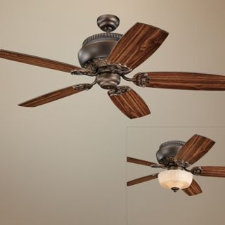 "52"" Monte Carlo Albany Roman Bronze Ceiling Fan with Light   #R3493"