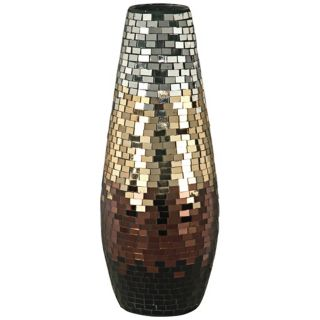 Dale Tiffany Metallic Grande Mosaic Art Glass Vase   #X5053