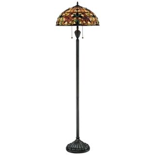Quoizel Kami Tiffany Art Glass Floor Lamp   #M7963