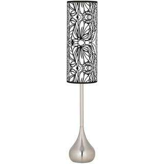 Jungle Moon Giclee Teardrop Torchiere Floor Lamp   #R1702 T0534