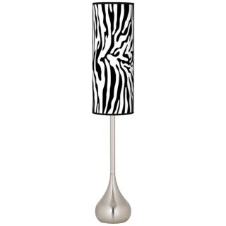 Safari Zebra Giclee Teardrop Torchiere Floor Lamp   #R1702 T0640