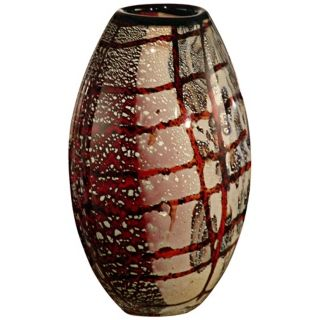 Dale Tiffany Windslow Hand Blown Art Glass Vase   #X4826