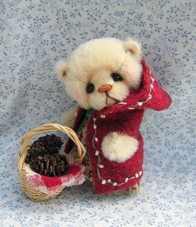 Juliana Miniature Mini Teddy Bear by Nancy McNally OOAK