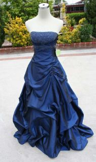 Roberta $120 Teal Black Juniors Formal Gown 3