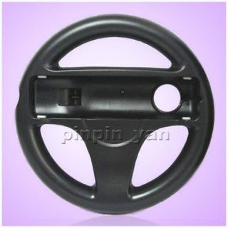 2X Black Steering Wheel for Wii Mario Kart Racing Game