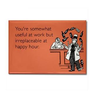 Happy Hour Rectangle Magnet for $4.50