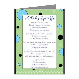 Gifts  Baby Note Cards  Green & Blue Sprinkle Note Cards (10