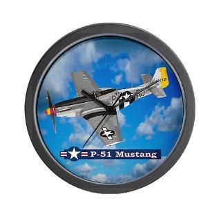 Ace Gifts  Ace Home Decor  P 51 Mustang Wall Clock