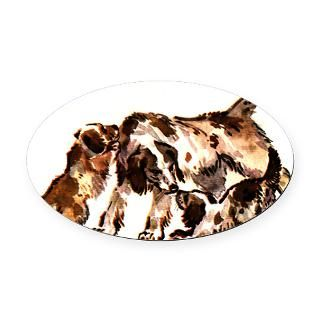 German Spaniels Oval Car Magnet
