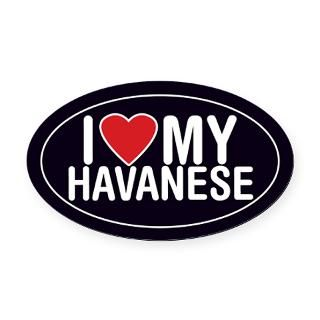Love My Havanese Oval Car Magnet/Decal (Oval)  Admin_CP726556