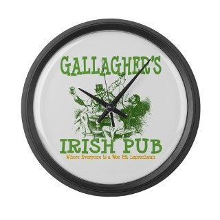 Gallaghers Vintage Irish Pub Personalized Large W by bestnametees
