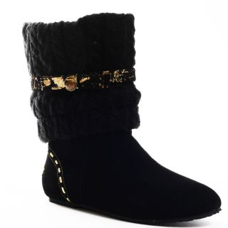 All Shoes / Pastry / Dolcezza Flat Boot   Black/Gold