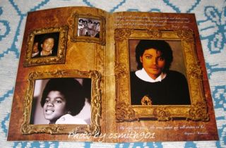 Michael Jackson Forest Lawn Memorial Program Black Gold