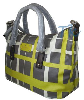 Kate Spade Checkmate Riley Crossbody Bag Satchel Handbag Purse Yellow