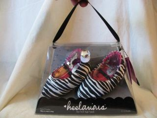 new KAYLA ZEBRA PRINT HEELARIOUS BABY HIGH HEEL SHOES infant 0 6mo