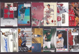 Huge Auto Jersey Patch Rookie RC Sports Card Collection Lot DiMaggio