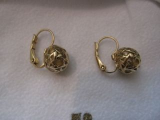 Kate Spade Keswick Gold Huggie Lever Earrings New