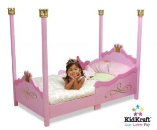Girls Pink Princess Cot Childrens Bed Kids Bedroom Furniture