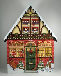 Byers Choice Wood Christmas House Advent Calendar