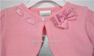 Koala Kids Infant/Toddler Girls 18M; 4T Pink Ribbon Bow Knit Long