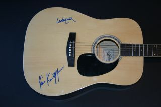 Willie Nelson Kris Kristofferson Signed Acoustic Guitar