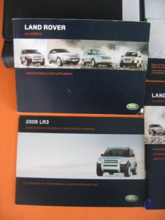 2005 Land Rover LR3 Owners Manual Set