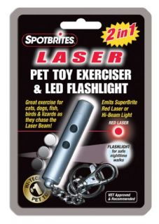 New Pet Toy Exerciser 2 in 1 Laser Pointer Cats Dogs Fish Birds Lots