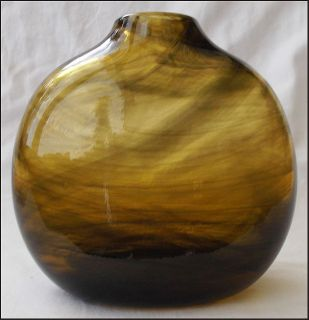 Early Claude Morin French Studio Art Glass Vase 1970