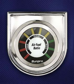 Sunpro Analog Styleline Electrical Air Fuel Ratio Gauge 2 Dia Black