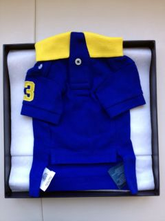 Ralph Lauren Big Pony Mesh Dog Polo Shirt Rugby Royal Small with Box
