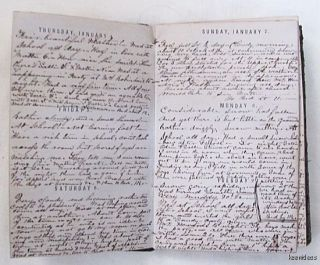 Pre Civil War Hand Written Young Students Diary Expense Ledger