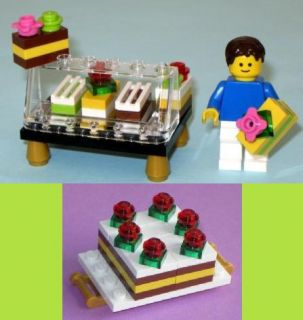Lego Food Pastry Bakery + Chocolate Cake Party Girl Paradisa Belville