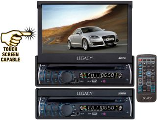 LEGACY CAR AUDIO LDN7U NEW 7 MOTORIZED TOUCH SCREEN MONITOR & DVD