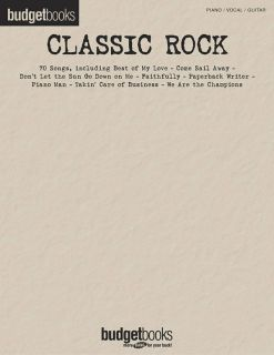 Classic Rock Budget Books Piano Vocal Guitar Song Book