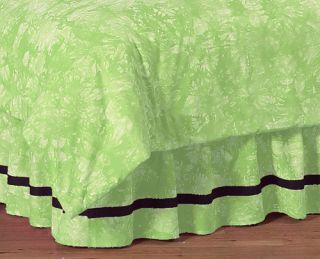 DESIGNS LIME GREEN TIE DYE PEACE GIRL KID QUEEN BEDDING SET BED SKIRT