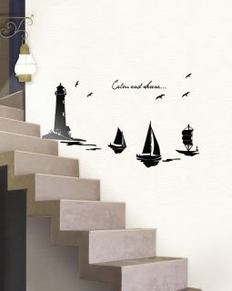 Lighthouse Adhesive Removable Wall Decor Accents Graphic Sticker Decal