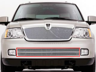 05 06 Lincoln Navigator Bumper Stainless Mesh Grille Grill Insert