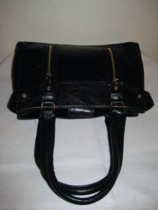 Liz Claiborne Black Satchel Shoulder Bag Handbag Purse