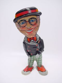 RARE Marx Toy Harold Lloyd Funny Face Walker Tin Windup