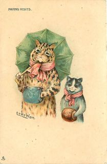 Louis Wain Paying Visits Dressed Cats Tuck Early S00413