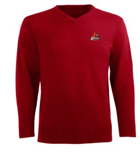 Louisville Cardinals Red Ambassador V Neck Sweater