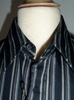 New Hugo Boss Black Label Slim Fit Stripe Dress Casual Cotton Shirt S