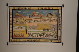 Original Signed Israel Judaica Art Lithograph by Shalom of Zefat 200