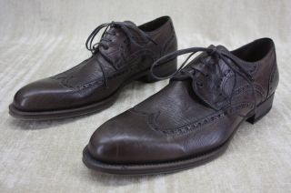 Magnanni Mens Raso Wingtip Oxford Lace Up Shoes Size 7 5 Brown Leather