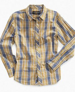 Lucky Brand Kids Shirt, Boys Aji Plaid Shirt   Kids Boys 8 20