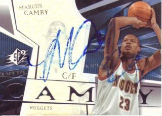 Marcus Camby Autograh Signed Card Denver Nuggets 17